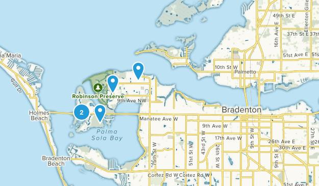 Bradenton, Florida Walking Map