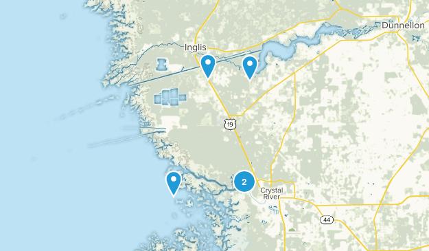 Crystal River, Florida Hiking Map