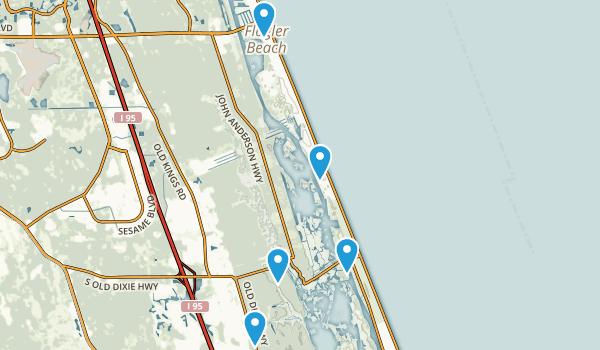 Flagler Beach, Florida Birding Map