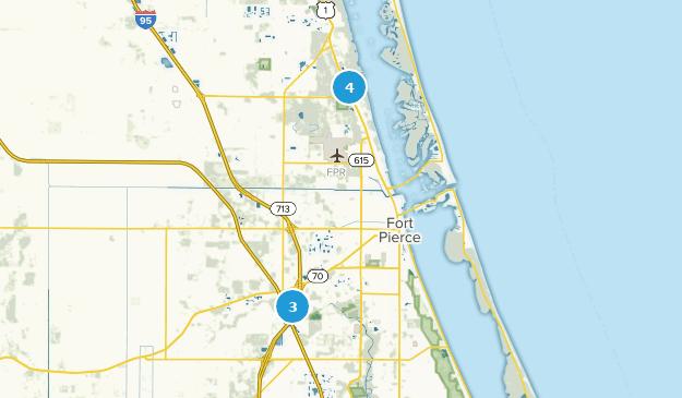 Fort Pierce, Florida Hiking Map