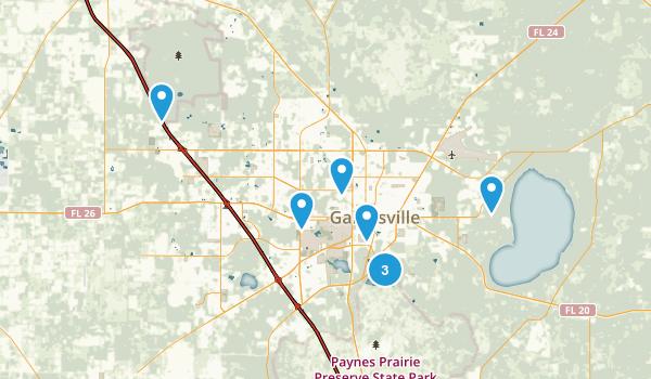 Gainesville, Florida Birding Map