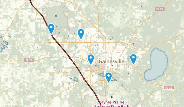 Gainesville, Florida Forest Map
