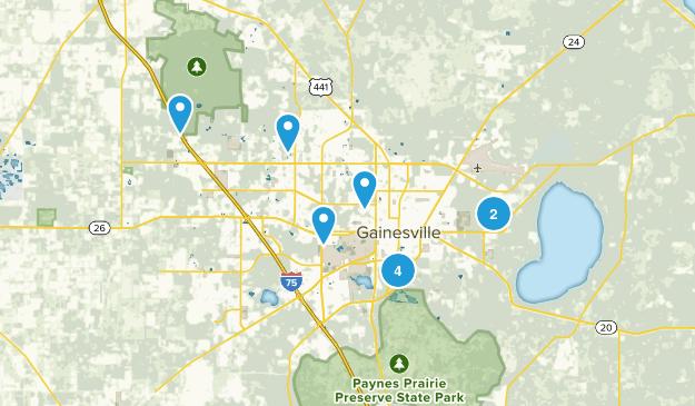 Gainesville, Florida Hiking Map