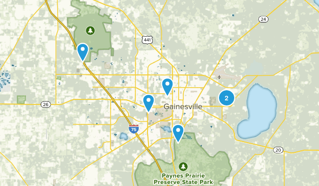 Gainesville, Florida Nature Trips Map
