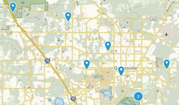 Gainesville, Florida Trail Running Map