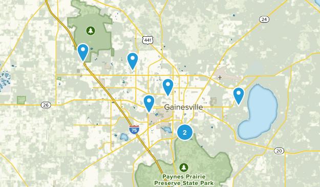 Gainesville, Florida Views Map