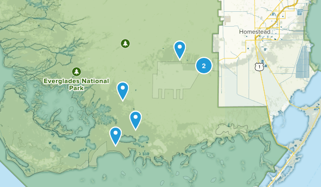 Homestead, Florida Nature Trips Map