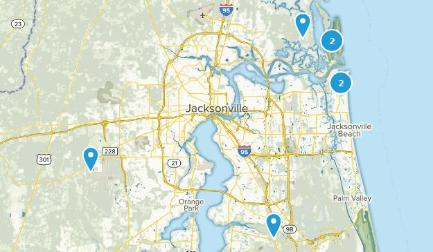 Jacksonville, Florida Mountain Biking Map