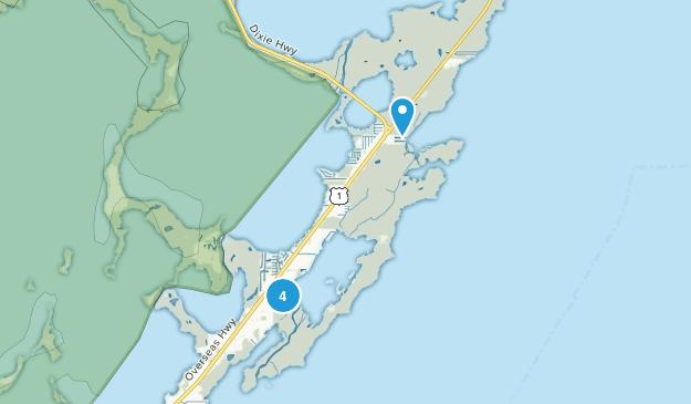 Key Largo, Florida Dogs On Leash Map