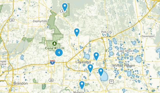 Lakeland, Florida Hiking Map