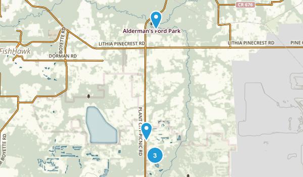 Lithia, Florida Hiking Map