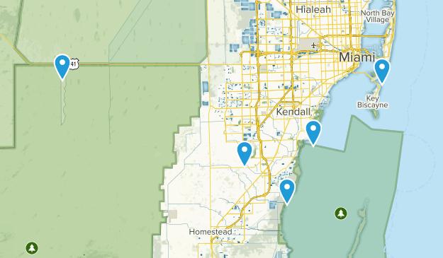 Miami, Florida Birding Map