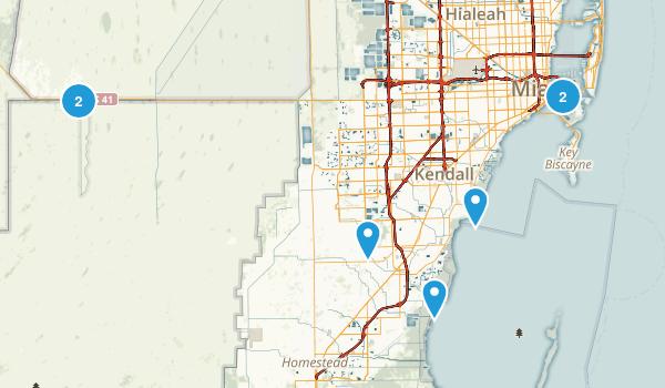 Miami, Florida Walking Map