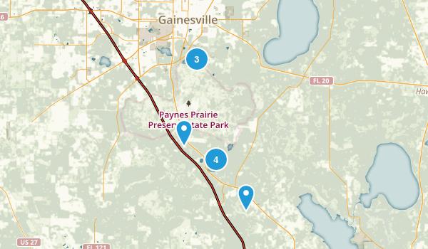 Micanopy, Florida Hiking Map