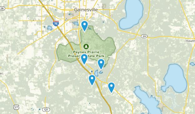 Micanopy, Florida Trail Running Map