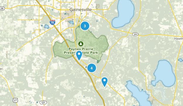 Micanopy, Florida Walking Map