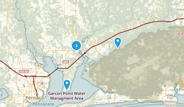 Milton, Florida Dogs On Leash Map