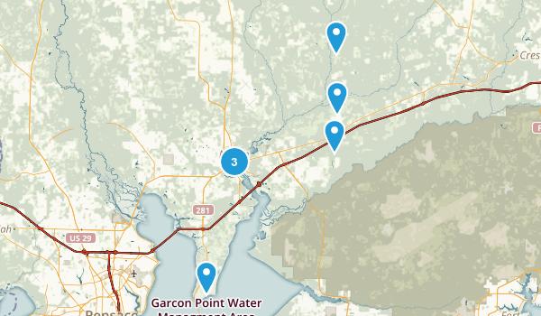Milton, Florida Trail Running Map