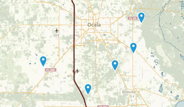 Ocala, Florida Trail Running Map