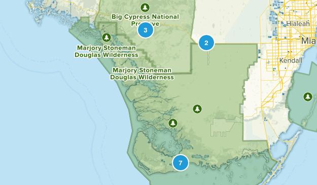 Ochopee, Florida Hiking Map