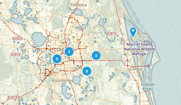 Orlando, Florida Birding Map