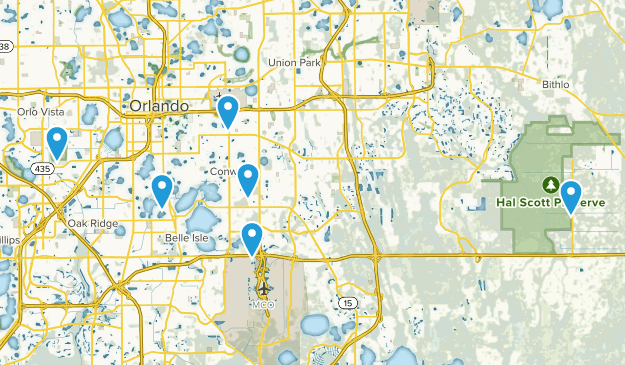 Orlando, Florida Fishing Map