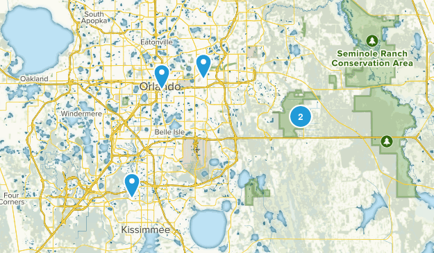 Orlando, Florida Mountain Biking Map