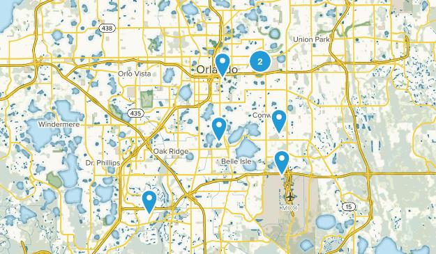 Orlando, Florida Road Biking Map