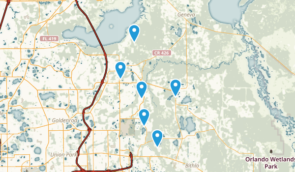 Oviedo, Florida Birding Map