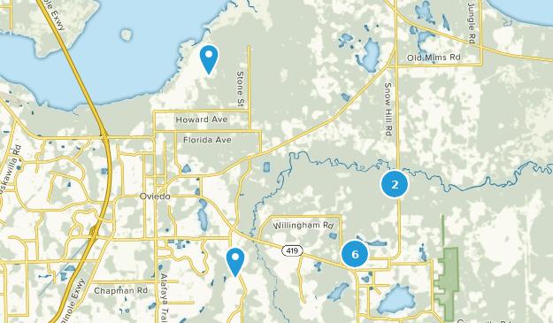 Oviedo, Florida Mountain Biking Map