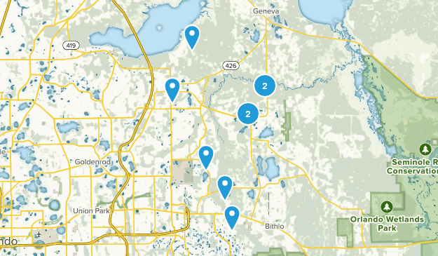 Oviedo, Florida Trail Running Map