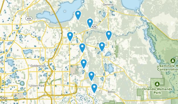 Oviedo, Florida Views Map