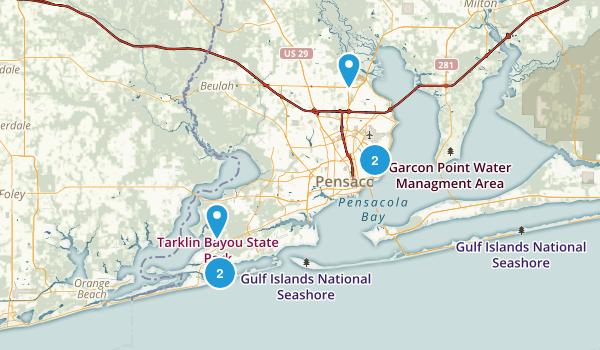 Pensacola, Florida Kid Friendly Map