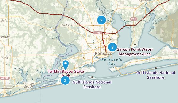 Pensacola, Florida Walking Map