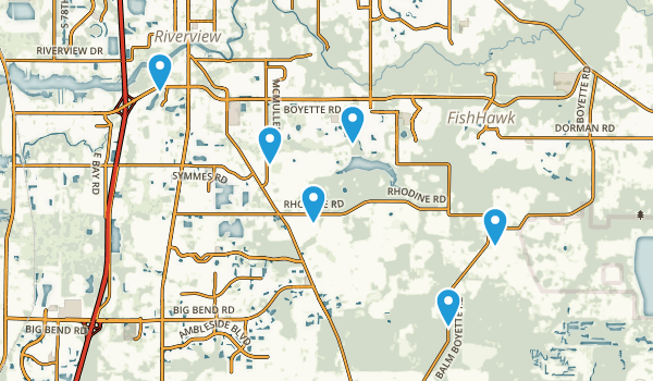 Riverview, Florida Birding Map