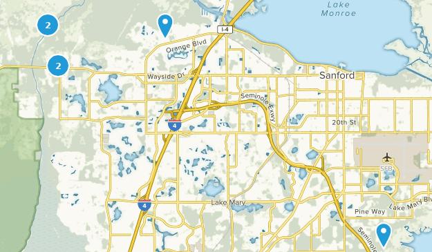 Map Of Sanford Florida.Best Forest Trails Near Sanford Florida Alltrails