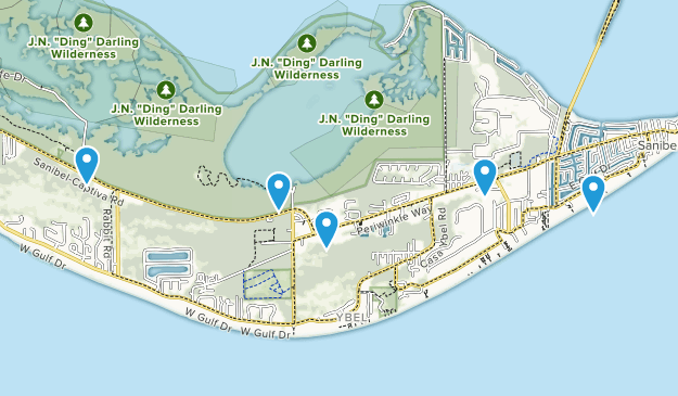 Sanibel, Florida Birding Map
