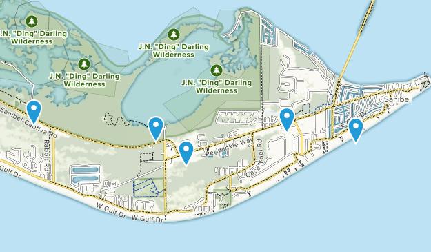 Sanibel, Florida Birding Map