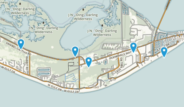 Sanibel, Florida Wildlife Map