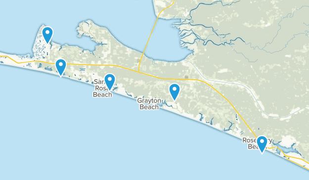 Santa Rosa Beach, Florida Dogs On Leash Map