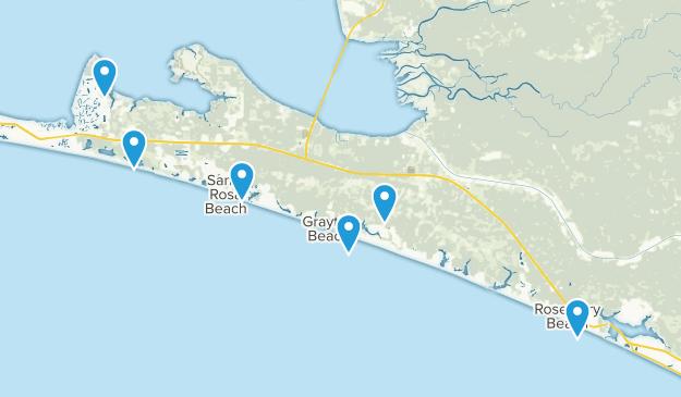 Santa Rosa Beach, Florida Hiking Map