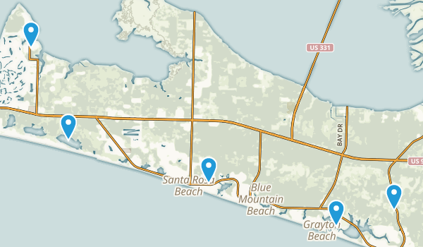 Santa Rosa Beach, Florida Nature Trips Map