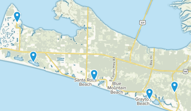 Santa Rosa Beach, Florida Nature Trips Map