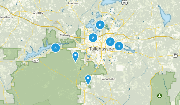 Tallahassee, Florida Hiking Map