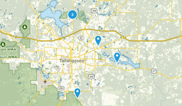 Tallahassee, Florida Horseback Riding Map