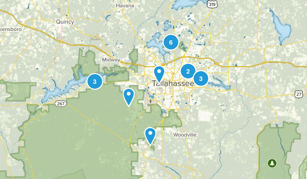 Tallahassee, Florida Wildlife Map