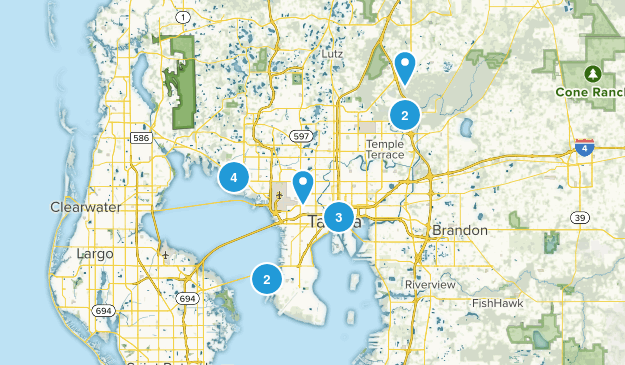 Tampa, Florida Dogs On Leash Map