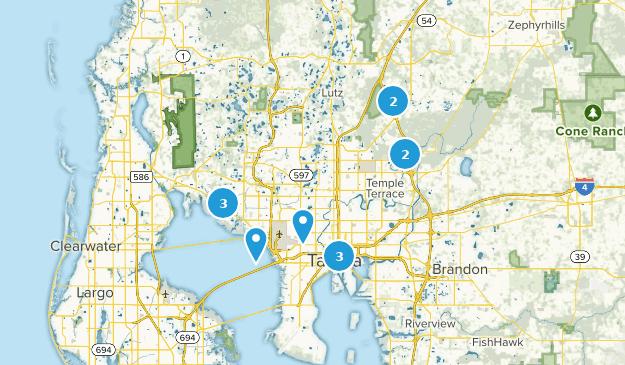 Tampa, Florida Hiking Map