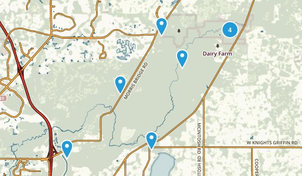 Thonotosassa, Florida Hiking Map