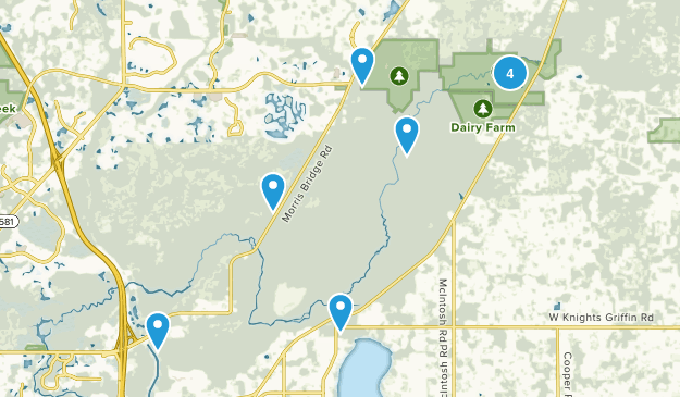 Thonotosassa, Florida Hiking Map